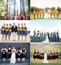 Bridesmaids photography...love the bridesmaids turned around