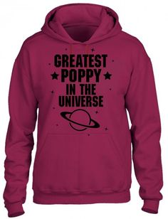 greatest poppy in the universe black print HOODIE