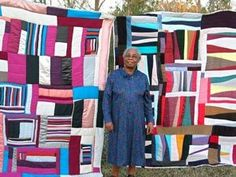 If you're not familiar with the amazing quilt tradition in Gee's Bend- check it out. Gorgeous, fascinating string quilts.