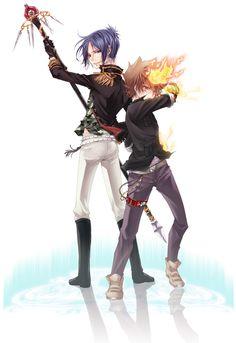 Tsuna and Mukuro Reborn Katekyo Hitman, Hitman Reborn, Art Anime, Anime Manga, Mafia, Reborn Anime, Cartoon Movies, Character Development, Touken Ranbu