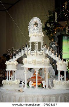 Big Wedding Cakes   Big Wedding Cake Stock Photo 97093367 : Shutterstock