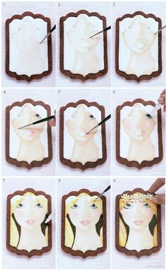 Summer Fairy Cookie: How to Handpaint Faces Sugar Cookie Icing, Cookie Frosting, Royal Icing Cookies, Cupcake Cookies, Sugar Cookies, Cupcakes, Paint Cookies, Cookie Tutorials, Fancy Cookies