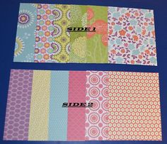 Stampin Up 2013 Designer Series Paper Card Fronts or Inserts Multi Pattern Sets | eBay