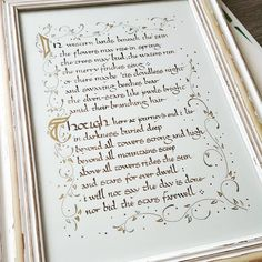 Scribe By Night Calligraphy — carnetdesipho: Aaand it's done