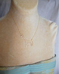 Giraffe Love Necklace