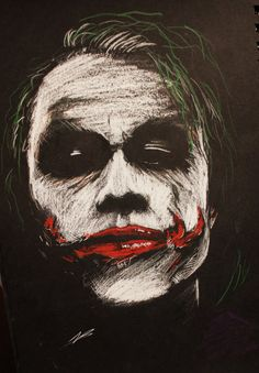 Heath Ledger as the Joker in The Dark Knight This was done as tribute to the late actor, as it's been seven years since he passed. The Joker BW Joker Images, Joker Pics, Joker Art, Joker Batman, Gotham Batman, Batman Art, Batman Comics, Batman Robin, Joker Iphone Wallpaper