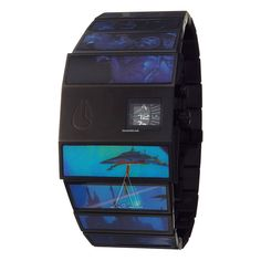 Nixon Men's The Rotolog Watch $195 #watch #watches Black Stainless Steel Case, Printed Stainless Steel Bracelet