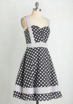 Bea and Dot Patterns at Play Dress | Mod Retro Vintage Dresses | ModCloth.com