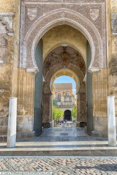 Into the courtyard of the Mezquita,Mosque–Cathedral, Córdoba, Spain