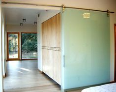 The Sliding Door Company's modern interior barn doors and glass barn doors are sophisticated, flexible and captures the hominess of barn doors with a unique, modern flair. Frosted Glass Barn Door, Sliding Glass Barn Doors, Hanging Barn Doors, Sliding Door Design, Sliding Closet Doors, Wooden Doors, Glass Doors, Wardrobe Doors, Door Design Interior