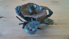 Antique  Candle Holder Iron very unique BUTTERFLY Iron Rushlight hand forged
