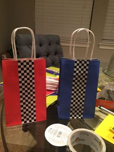 Hotwheels goodie bags. Homemade.