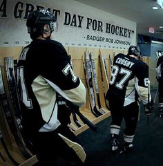Evgeni Malkin and Sidney Crosby