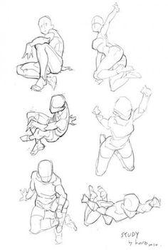 drawing poses in 2019 dibujos, cosas de dibu Drawing Body Poses, Body Reference Drawing, Anime Poses Reference, Gesture Drawing, Drawing Base, Drawing Drawing, Drawing Of A Boy, Drawing Tips, Croquis Drawing