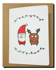 Hey, I found this really awesome Etsy listing at https://www.etsy.com/au/listing/250368002/santa-and-rudolf-christmas-card