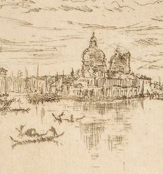 Upright Venice (Detail), James Abbott McNeill Whistler, 1879-1880