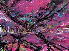 "Daily+Paintworks+-+""Space+Bridge""+-+Original+Fine+Art+for+Sale+-+©+Khrystyna+Kozyuk"