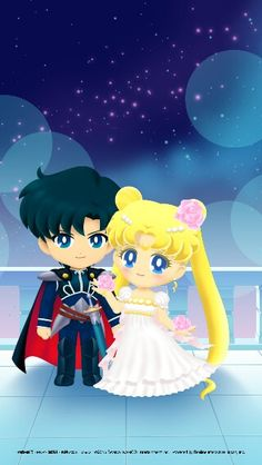 Princess Serenity and Prince Endymion! Sailor Moon Drops/Sailor Moon (SM)<<<AAHH!!! So cute!!!