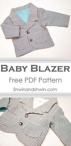Baby Blazer Pattern || FREE PDF Pattern (scheduled via http://www.tailwindapp.com?utm_source=pinterest&utm_medium=twpin&utm_content=post47029082&utm_campaign=scheduler_attribution)
