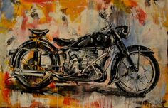 "Saatchi Art Artist Dejan Bozinovski; Painting, ""motorcycle"" #art"