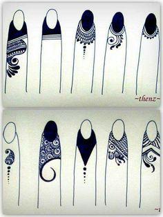Back. Finger tips mehandi designs