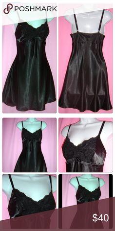 f90be4ee58 Jones New York Black Satin Chemise 3X NWT black plus size chemise in 3X. The