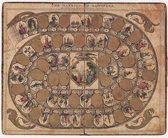 """""""It centred around ideas of vice and virtue, as players attempted to reach the """"mansion"""", a heavenly reward for the pious . Chutes and Ladders meets Sunday school"""" 15 Centuries-Old Board Games Old Board Games, Vintage Board Games, Game Boards, Games For Kids, Games To Play, Design Observer, Good Morals, Board Game Design, Space Games"""