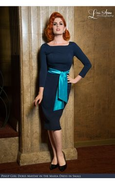 Pinup Couture- Maria Wiggle Dress in Navy Ponte - See more at: http://www.pinupgirlclothing.com/maria-ponte-navy.html#sthash.GD77yGhs.dpuf