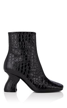 8c1a2da500 Gayle Rich Style · More Shoes For YOU · We Adore  The Slanted-Heel Stamped  Leather Ankle Boots from Dries Van Noten at
