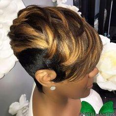 Relaxed Long Pixie short hairstyles 65 Best Short Hairstyles for Black Women in 2019 Relaxed Cute Hairstyles For Short Hair, Hairstyles Haircuts, Black Women Hairstyles, Braid Hairstyles, Natural Hairstyles, Short Sassy Hair, Short Hair Cuts, Short Hair Styles, Short Curls