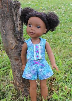 Play Clothes for 14 inch dolls such as WellieWishers Shorts and Top 2 piece…
