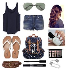 """""""Navy blue, white, brown"""" by mallysheldon ❤ liked on Polyvore"""