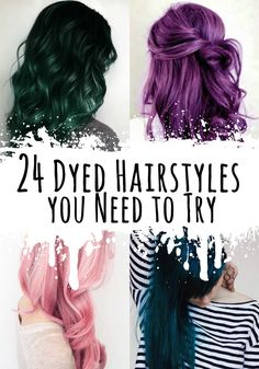 24 Dyed Hairstyles you Need to Try - Check these 24 Cool Dyed Hairstyles Ideas that you HAVE to try! Pink, Blue, Purple, Pink, Lavender & More! - http://ninjacosmico.com/24-dyed-hairstyles-try/