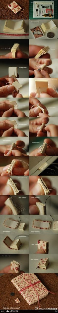 how to make a mini book, i think