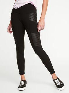 Old Navy Women High-Waisted Moto Street Leggings Black XL Camouflage Leggings, Sports Leggings, Printed Leggings, Cheap Leggings, Women's Leggings, Black Leggings, Leggings Store, Black Workout Leggings, Gothic Leggings