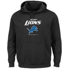 5786dfda6 Men s Detroit Lions Black Critical Victory Pullover Hoodie Fleece Hoodie
