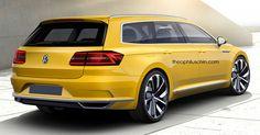 A olkswagen Arteon Shooting Brake Is A Long Shot #Renderings #VW