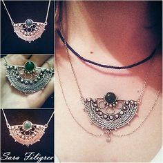 Handmade silver filigree necklace...