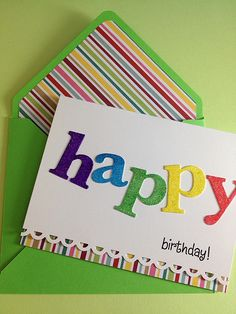 cute and colorful! Love the matching envelope
