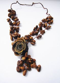 orange peel roses jewelry | necklace is made of aromatic coffee beans and sweet-smelling orange ...