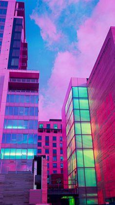 pink, city, and neon image Vaporwave, Nails London, Neon City, Catty Noir, Neon Noir, Neon Aesthetic, Of Wallpaper, Kawaii Wallpaper, Wallpaper Backgrounds