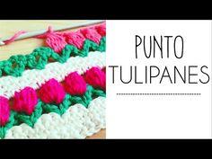 Punto TULIPANES en fila a Crochet - #PuntoPedia - YouTube