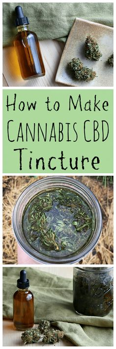 Learn how to make your own homemade cannabis CBD tincture for all of your aches and pains! #cannabis #cbd #tincture