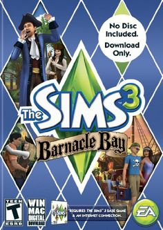 Amazon.com: The Sims 3: Barnacle Bay [Download Code] - PC/Mac: Video Games EXPANSION PACK FOR SIMS 3-  -Barnacle Bay $8