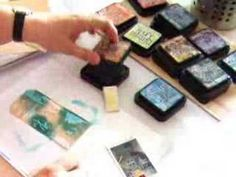 gesso, distress inks, and baby wipes