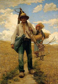 French Peasants In A Stubble Field