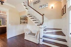 great foyer in Architectural Designs Farmhouse Plan 30057RT
