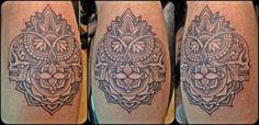 Mandala style tattoo with Sugar Skulls!