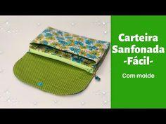 Sew Wallet, Fabric Wallet, Coin Purse Wallet, Fabric Bags, Card Wallet, Wallet Sewing Pattern, Wallet Pattern, Diy Bags Purses, Bag Making