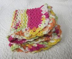 Knit DishclothWashclothDishclothDish RagWash RagSet by Kitkateden